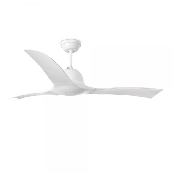 Ventilador de techo ola en color blanco con mando a distancia - Ventiladores de techo sin luz ...