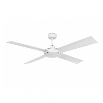 Ceiling fan in white with remote control
