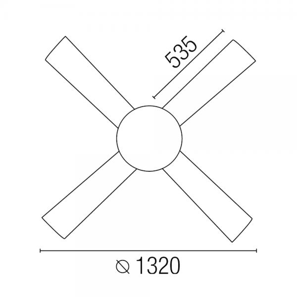 Ventilador de techo en color blanco con mando a distancia - Ventiladores con mando a distancia ...