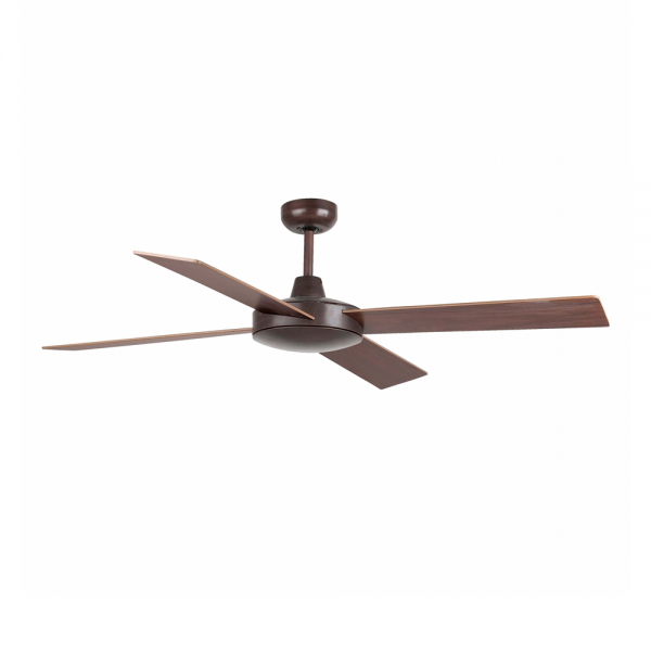 Ceiling fan in rust brown with remote control