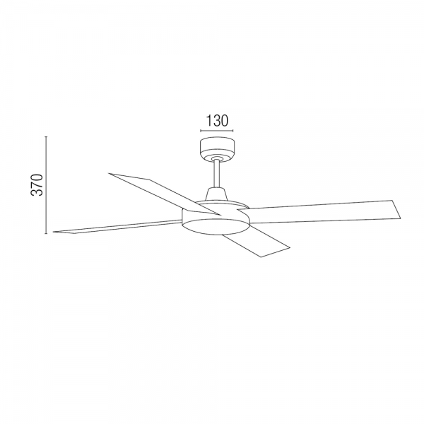 Ventilador de techo en color marr n xido con mando a distancia - Ventilador de techo mando a distancia ...