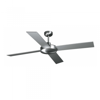 Ceiling fan in matte nickel color with remote control