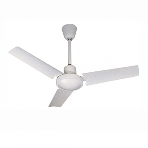 MiniBasic Ceiling Fan In White With Wall Regulator