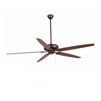 Vintage fan in dark brown with reversible blades