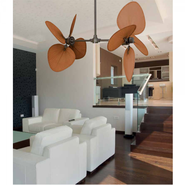 Fan Fanimation In Dark Brown With Vertical Rotation Of The