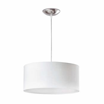 Lámpara colgante blanca estilo moderno con dos portalámparas E27