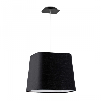 Cool lamp with black fabric screen in Eco 42W bulb