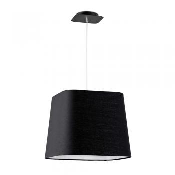 Lámpara cool con pantalla textil en negra y portalámpara E27