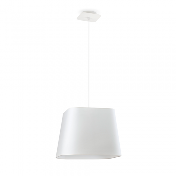 Lámpara cool con pantalla textil en blanca y portalámpara R27
