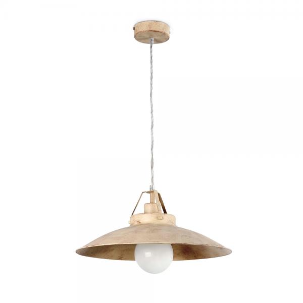 Luminaria estilo r stico fabricada en metal con bombilla eco de 42w - Lamparas estilo rustico ...