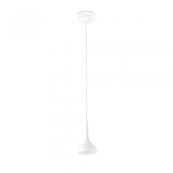 Luminaria colgante en blanca con tecnología LED de 8W tono cálido