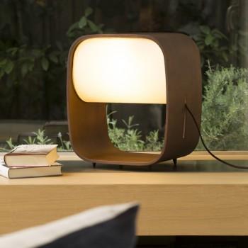 Lámpara sobremesa en madera