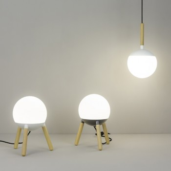 Ball lámpara colgante blanca