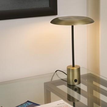 Lámpara seta dorada