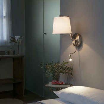 Nirb aplique de pared con lector LED níquel mate
