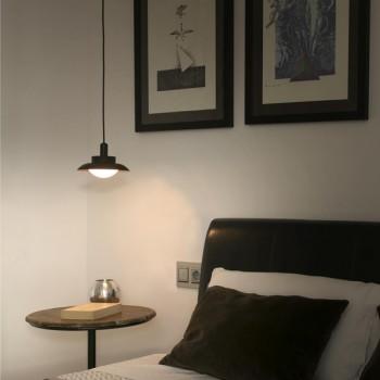 Lámpara Rope colgante negro y cobre