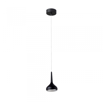 Light pendant in black and gray with warm 8W LED technology