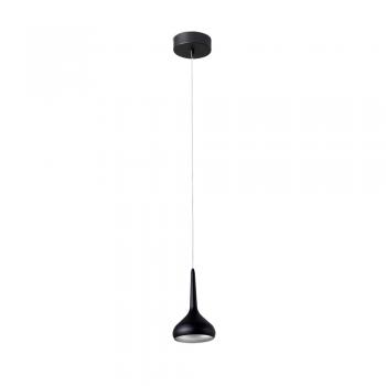 Luminaria colgante en negro y gris con tecnología LED de 8W cálido