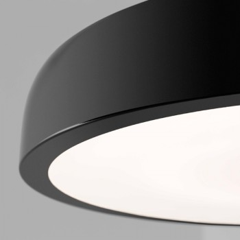 Lámpara plafón negro