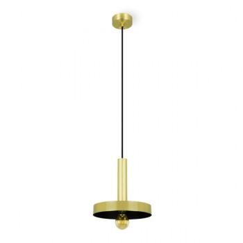Dinay lámpara colgante en oro satinado y negro