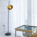 Dinay lámpara portátil en oro satinado y negro