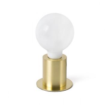Lámpara de sobremesa oro satinado