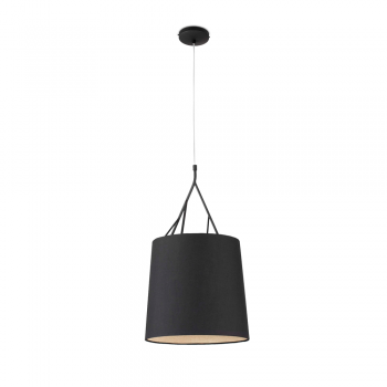 Hanging lamp black trendy Neo Eco 70W bulb