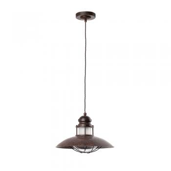 Lámpara candil rústica en marrón