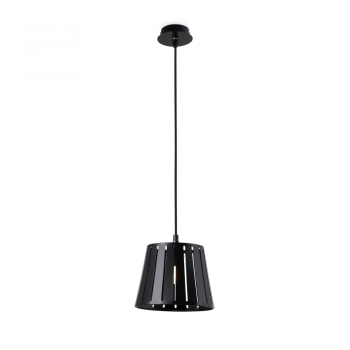 Hanging lamp in black with factory inspired Eco 42W bulb