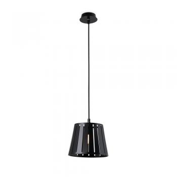 Lámpara colgante factory inspired en negro