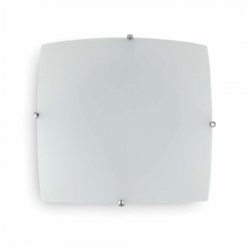 Matt nickel ceiling glass 40x40 cm and two 42W bulbs Eco