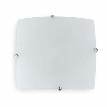 Matt nickel ceiling glass 30x30 cm and two 42W bulbs Eco