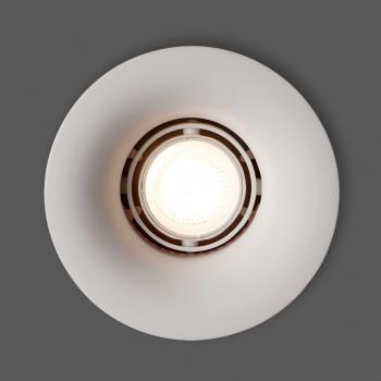 Lámpara empotrable blanca para dicroica de 50W GU10 fabricada en yeso