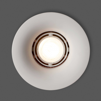 White Downlight with GU10 50W dichroic made of plaster