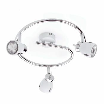 Aplique blanco de diseño moderno con tres portalámparas GU10
