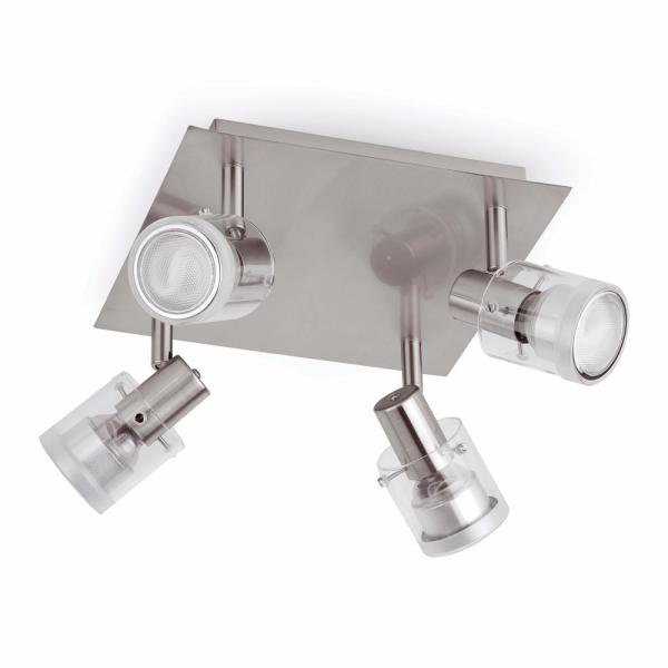 Aplique de techo n quel mate con bombillas de bajo consumo - Apliques techo led ...