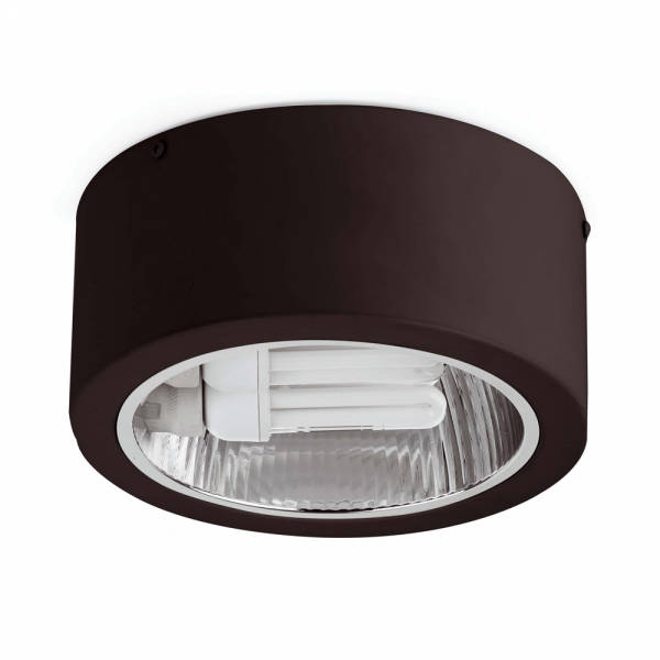 Black Surface Downlight With Two 23W Saving Bulbs