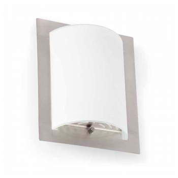 Wall light in nickel matt with a 42W bulb Eco