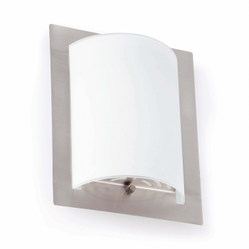 Wall lamp in brushed nickel with two 42W bulbs Eco