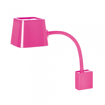 Lámpara de pared Chic en fucsia con portalámpara E27