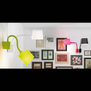 Chic Wall Lamp in Black with 15W energy saving lamp