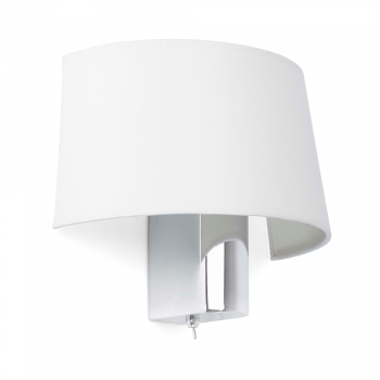 White wall lamp with switch and Eco 28W bulb