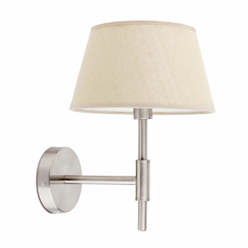 Wall light beige textile screen and Eco 42W bulb