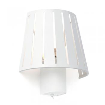Lámpara de pared factory inspired en blanca con portalámpara E27
