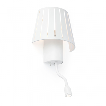 Inspired factory lamp bulb on white with Eco 42W and 1W LED