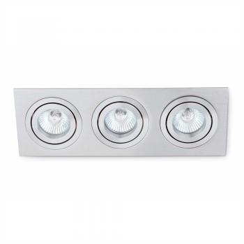 Luminara gris para tres lámparas dicroicas de 50W GU10