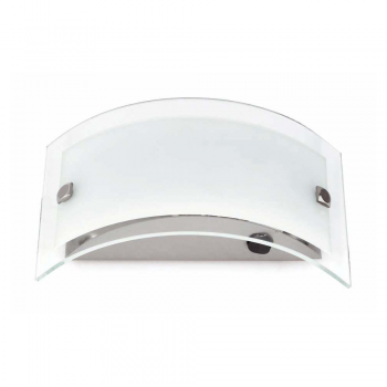Wall light modern chrome with Eco 28W bulb