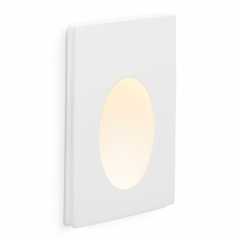 White Recessed plaster made with warm 1W LED