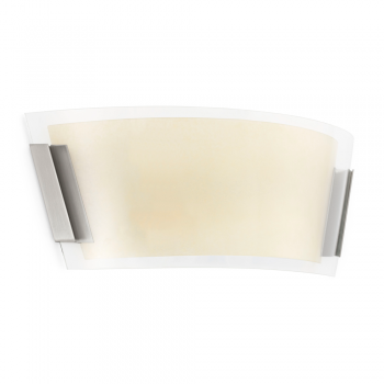 Traditional wall light nickel matt with two 42W bulbs Eco