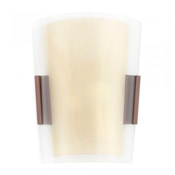 Aplique clásico marrón óxido con dos portalámparas E14